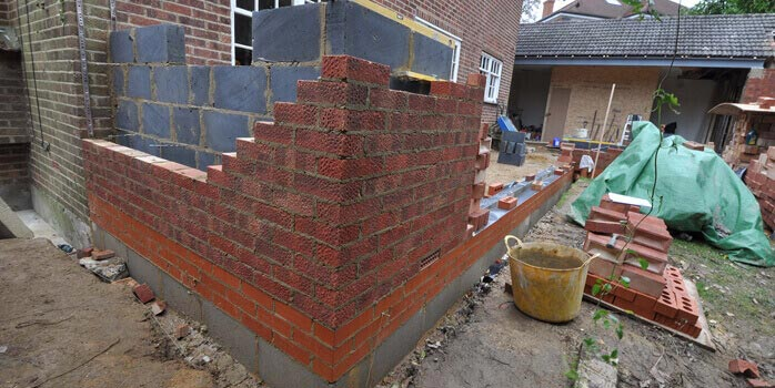 corner junction cavity wall