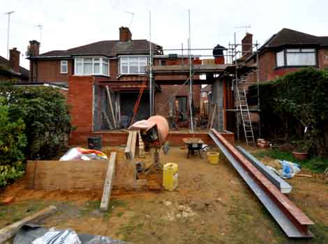 Building works underway at Ladbroke Road