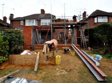 Building works underway at Ladbroke Road