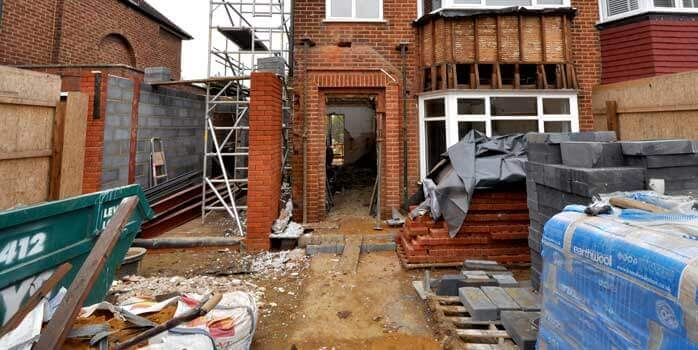 Constructions works at Clifton Gardens property London