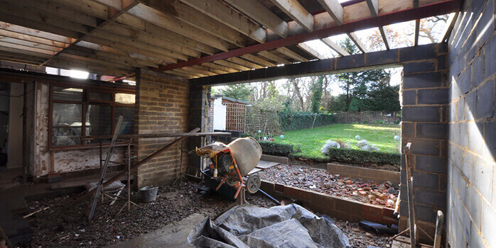 extension work is well under way