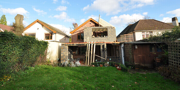 pitched roof for new extension