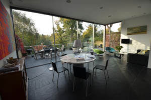 Inside residential home, extension