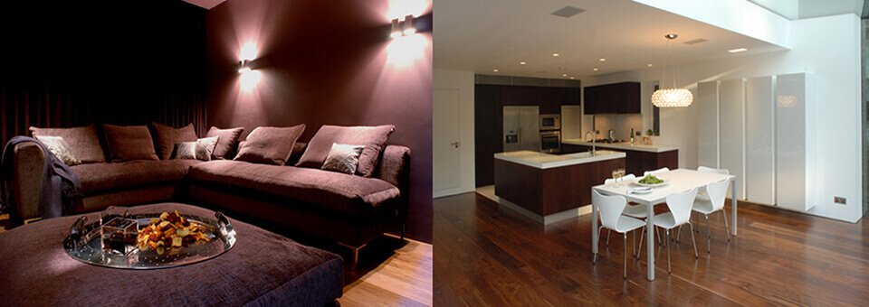 Interiors or architecturally designed property