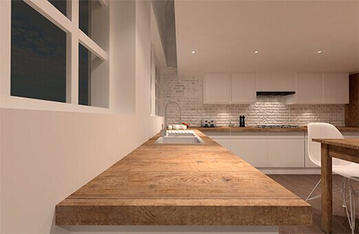 Corrib Court architecturally designed kitchen