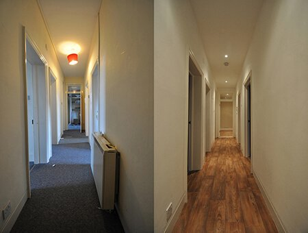 Gisburn Mansions before and after photos