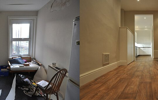 Before and After Photos of living area