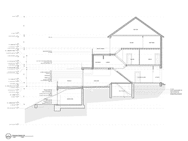 Architectural drawings of Glenluce house