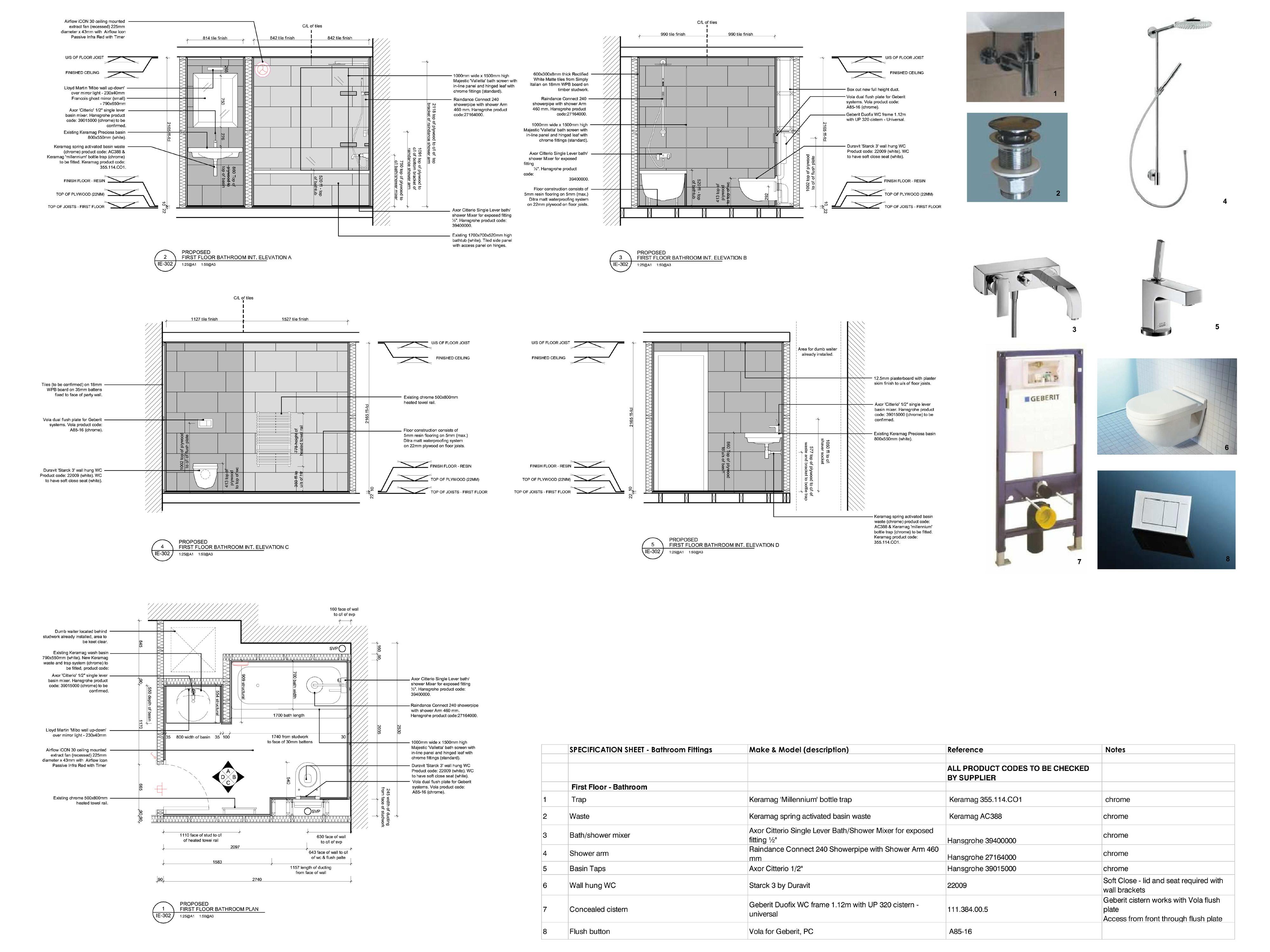 Ladbroke Road Architectural drawings