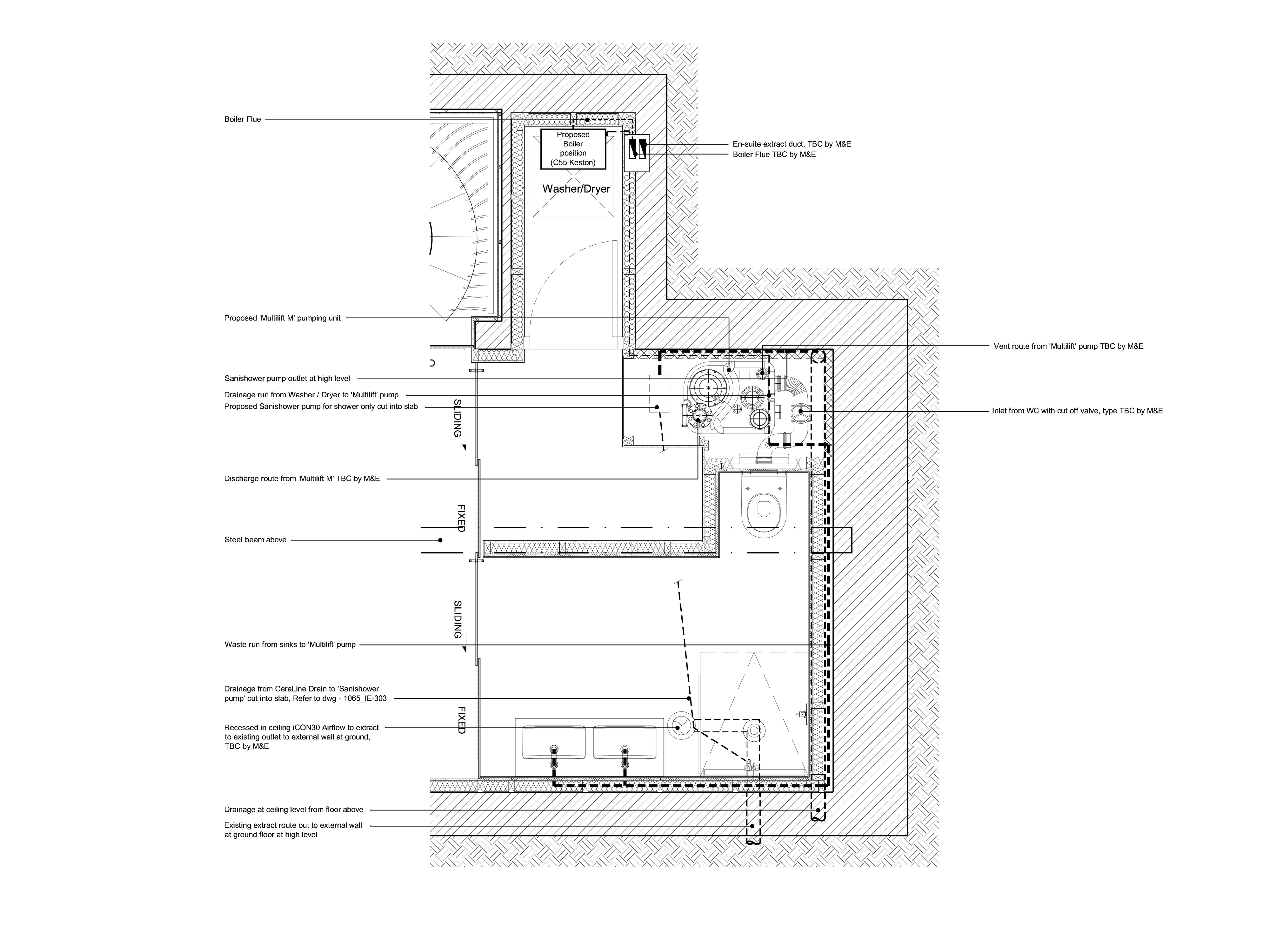 London property architectural plan of floor area