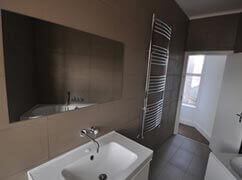 Bathroom finished in a modern look