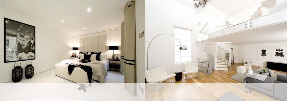 Interior of MSK designed London property
